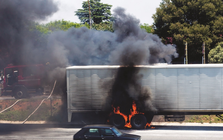 Wheel-end fires often make the news, with dramatic clouds of thick black smoke.  - Getty Images