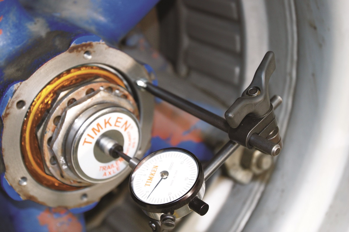 Proper bearing installation using correct procedures will extend bearing life and limit the possibility of a wheel-end fire.  - Photo: Jim Park