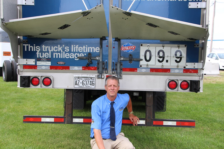 Henry Albert, CEO and driver at Albert Transport, says thinking of tractor-trailer aerodynamics as a system is vital for putting up good fuel economy numbers. He's also a great example of how driving technique makes a difference.