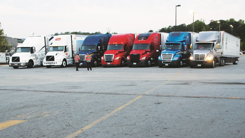 Trucks participating in the NACFE Run on Less Challenge were spec'd with production,...