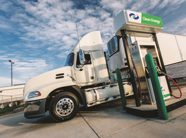 """Clean Energy Fuels operates over 500 CNG and LNG stations in 43 states. Chad Lindholm, vice president of national accounts, says the company has expanded its network """"exponentially to serve over-the-road trucks at or close to truckstops by offering a diesel-like fueling service."""""""