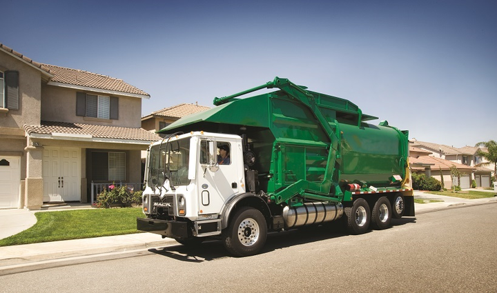 Natural gas first made its presence known in Class 8 trucking with refuse haulers and other centrally fueled vocational fleets that needed to be environmentally compliant to operate legally in non-attainment areas.  - Photo: Mack Trucks