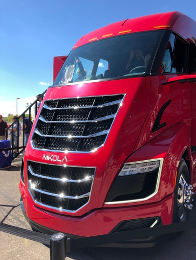 The Nikola Two has 10 tires and disc brakes, but that's where the similarities to existing Class 8 tractors end. - Photo: Jim Park