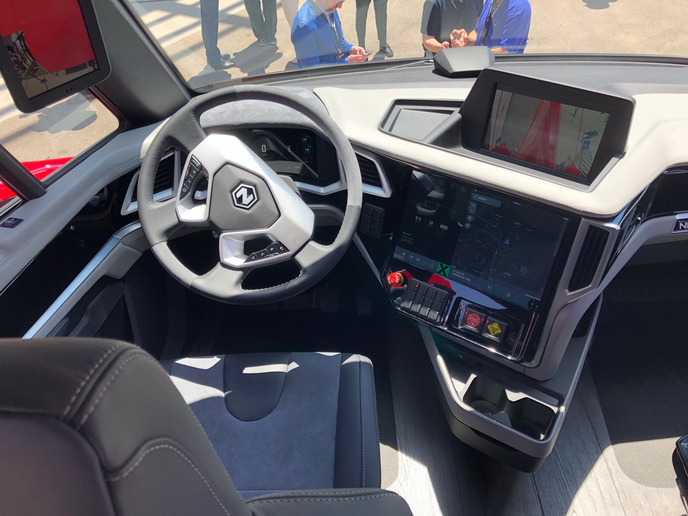 "Speaking of the truck's interior, Nikola Motors' chief designer said, ""The idea was to build something so beautiful that drivers will really want to drive it.""