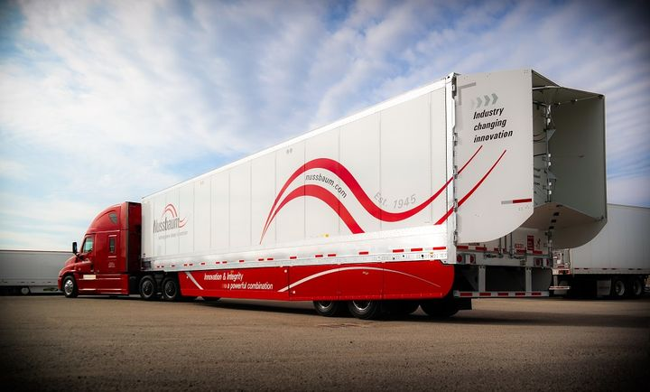 Illinois-based Nussbaum Transportation is serious about aerodynamics, including 29-foot side skirts on trailers rather than the more common 23-foot ones.  - Photo: Nussbaum Transportation