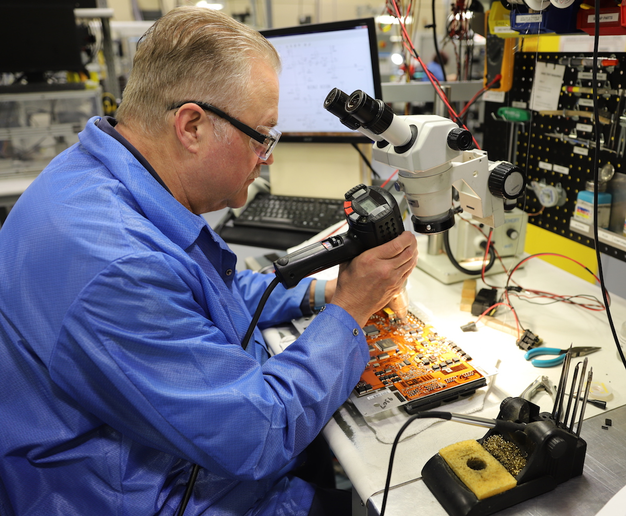 The environment for remanufacturing electronic components must be dust-free and humidity-controlled to prevent static electricity.  - Photo courtesy Detroit Reman
