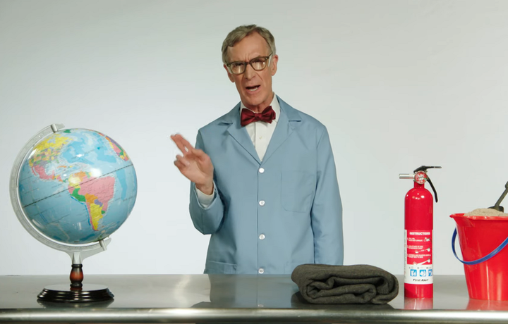 Bill Nye used incendiary language to address climate change but the issue has hadreal world effects on the trucking industry.  - Screenshot via Last WeekTonight with John Oliver