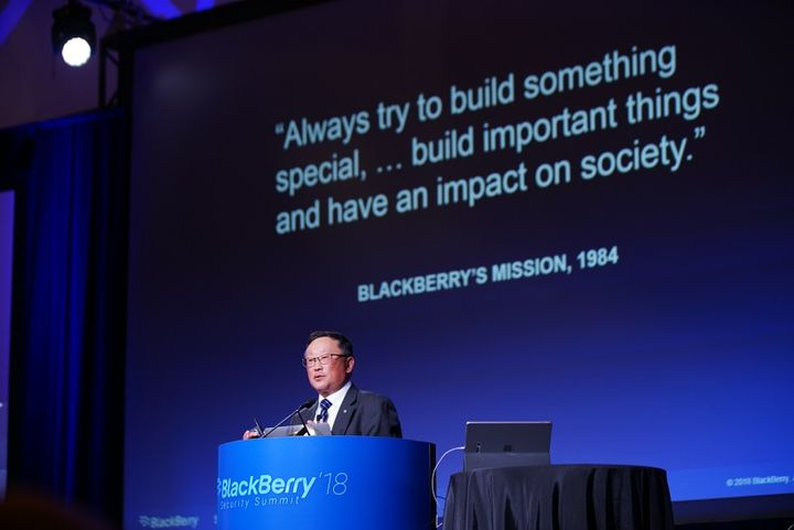 BlackBerry CEO John Chen spoke about how technology will play an increasingly important role in the trucking industry. 