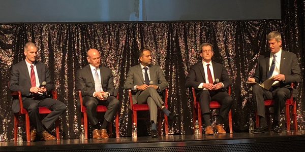 A panel of trucking industry executives offered their insights into new technologies in the...