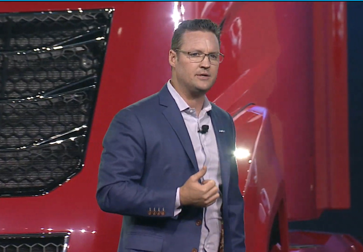 Nikola Motor Co. CEO Trevor Milton talks about the Nikola Two during the unveiling event.
