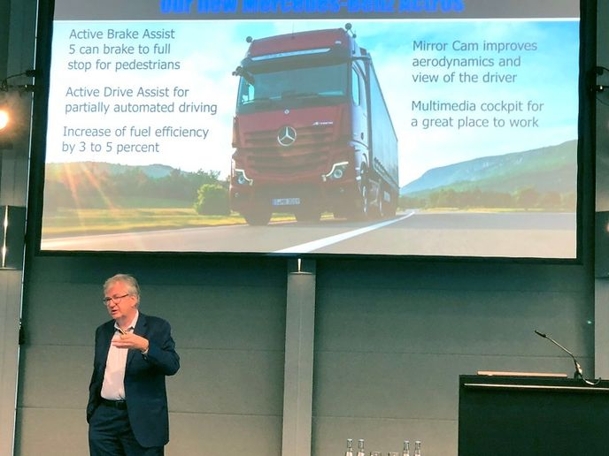 The head of Daimler's Truck and Bus business division, Martin Daum, said that not all new technologies ultimately pan out. And truck platooning may be one of them.  - Photo: Jack Roberts