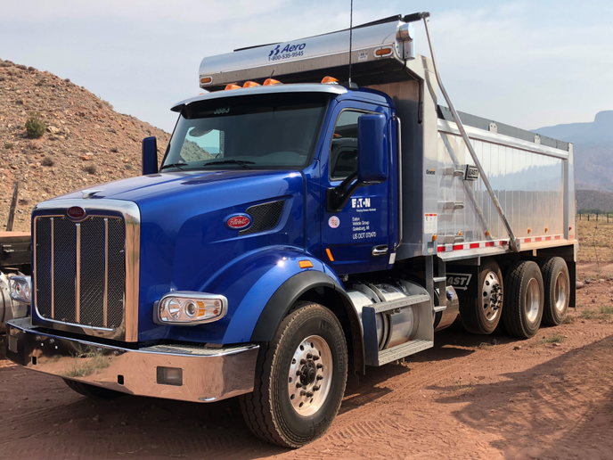 The Model 567 vocational truck features a thoroughly modern, quiet interior with all the exterior features that Peterbilt fans have come to expect from the brand. Photo: Jack Roberts  -