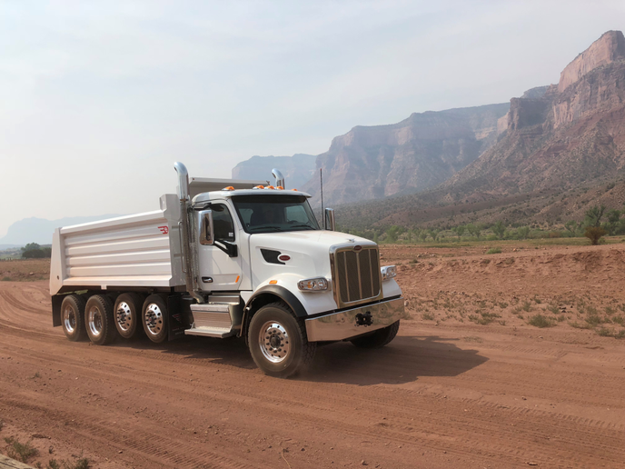 Tough terrain aside, the Model 567 trucks all handled well and provided smooth rides on the rough off road course. The truck's highly effective air conditioning received universal praise in the hot desert heat as well. Photo: Jack Roberts