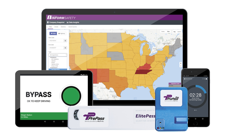Today, PrePass offers a spectrum of services and products beyond transponder-based weigh station bypass.  - Photo courtesy PrePass