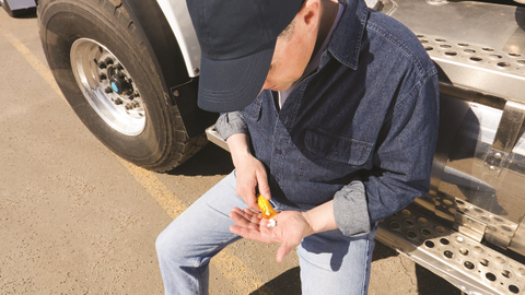 Regulations restrict what prescription drugs truck drivers may use. Some are discouraged and may...