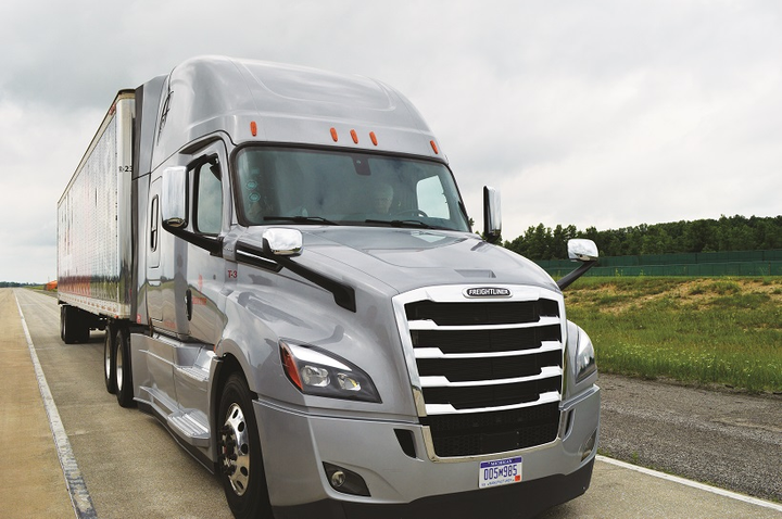 The trucks used for this test were off-the-shelf Freightliner Cascadias with the company's standard brake offerings. There was nothing special about the brakes used in the test.
