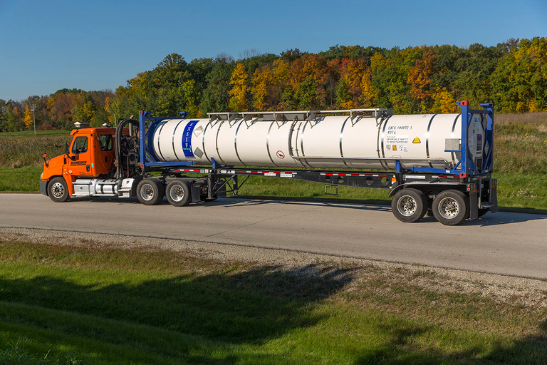 Schneider worked with tank companies and the railroads to develop a way to ship liquid bulk...