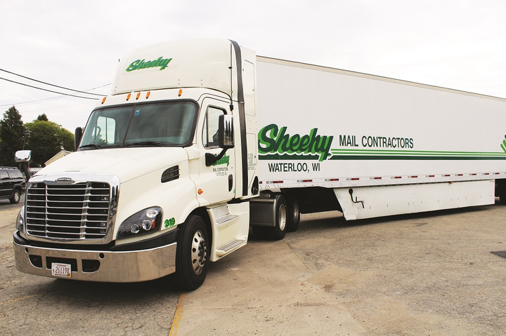 The Sheehy Mail Contractors fleet today is 90% CNG powered, including 15 brand-new CNG Freightliner Cascadias.
