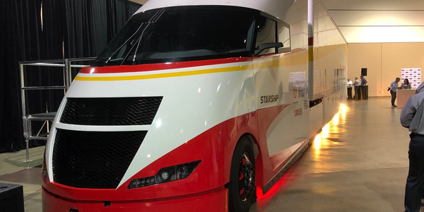 The Shell Starship Initiative Truck on the floor of the Prime F. Osborne III Convention Center...