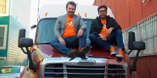CEO Stefan Seltzer-Axmacher (L) seen here with Starsky Robotics co-founder Kartik Tiwari, wants...