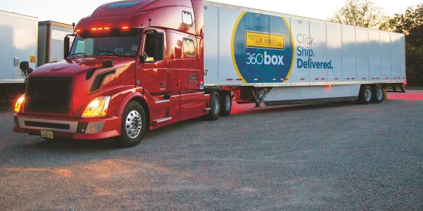 J.B. Hunt Transport Services' digital freight-matching platform, Carrier 360, also features a...