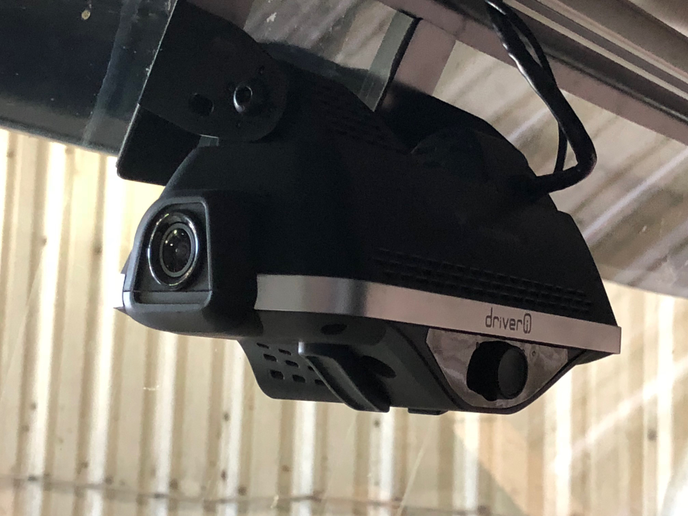 Netradyne's in-cab camera system provides high-quality video combined with deep-learning computing analyitics to give fleets feedback on a wide range of safety and operational metrics.