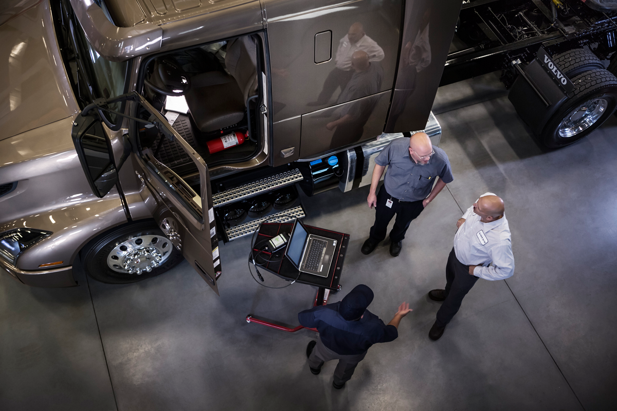 In addition to taking much of the guesswork out of repairs, telematics systems are generating data about every aspect of a truck's working day that can help fleets take efficiency to the next level.  - Photo: Volvo Trucks North America