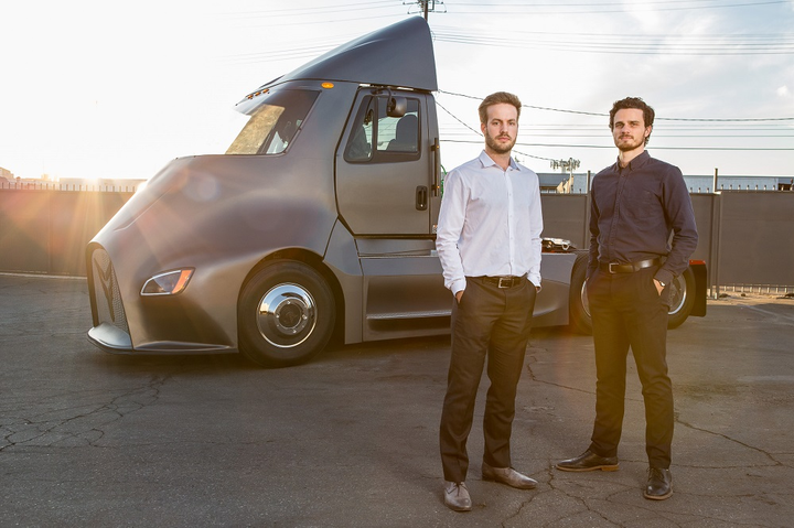"Thor Trucks isn't looking to ""reinvent"" the trucking industry, says COO Giordano Sordoni, one of Thor's co-founders with Dakota Semler (both pictured here).
