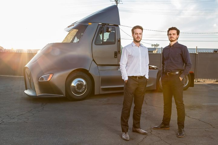 """Thor Trucks isn't looking to """"reinvent"""" the trucking industry, says COO Giordano Sordoni, one of Thor's co-founders with Dakota Semler (both pictured here).  - Photo courtesy Thor Trucks"""