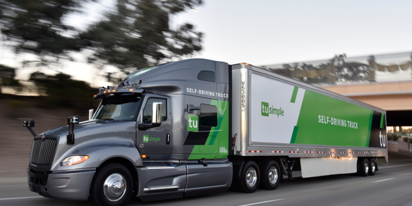 TuSimple self-driving trucks will haul USPS trailers more than 1,000 miles between the Postal...