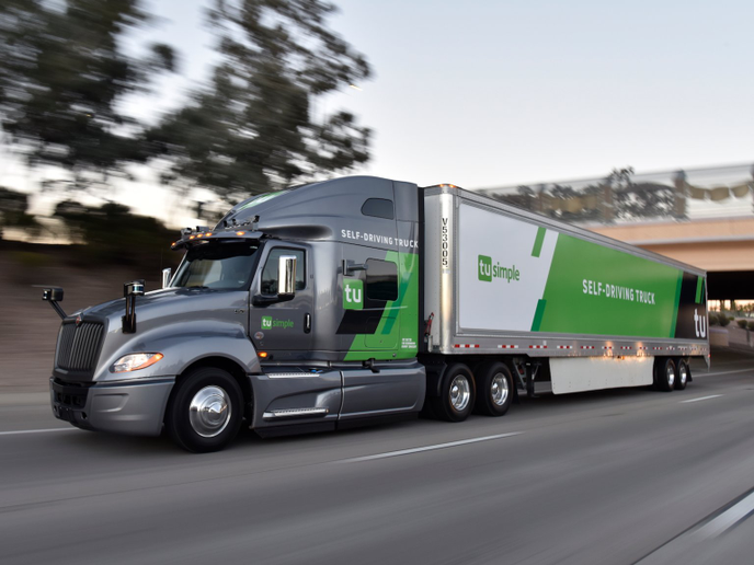 TuSimple self-driving trucks will haul USPS trailers more than 1,000 miles between the Postal Service's Phoenix and Dallas distribution centers.