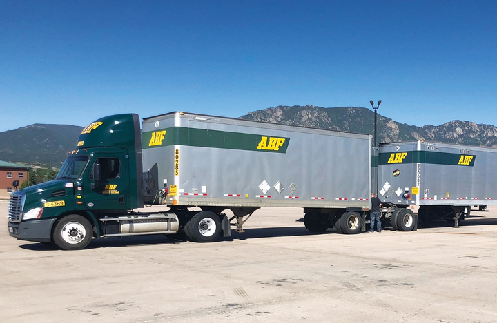 In an effort to help veterans, ABF Freight's driver training program eases thetransition into civilian life.  - Photos: ABF Freight