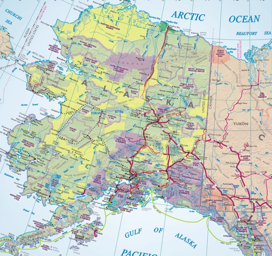 Roads in Alaska are concentrated in the eastern half of the state. Getting goods to outlying communities means shipping and travel by boat or air. -