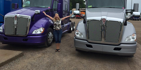 Joyce Brenny, owner of Minnesota-based open-deck carriers Brenny Transportation and Brenny...