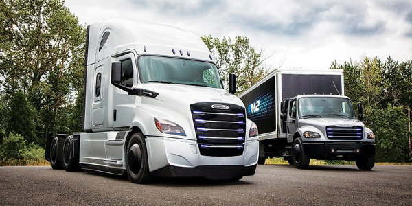 Daimler Trucks North America is fleet-testing a Freightliner eCascadia and a Freightliner eM2...