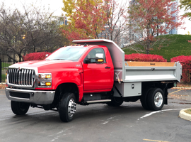 The new CV Series vocational truck line features a GM cab and powertrain technology combined with International's frame, suspension and chassis.
