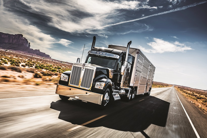 Kenworth's fresh take on the long-nose conventional is the W990, which is powered by the proprietary Paccar MX-13 engine, rated up to 510-hp and 1,850 lb-ft of torque.