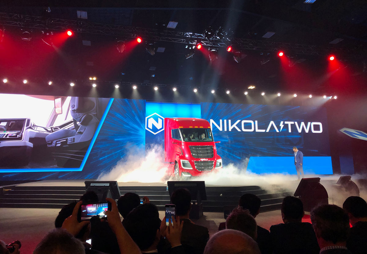 The Nikola Two was unveiled to an enthusiastic crowd at Nikola World.