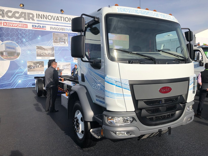 With the launch of the battery-electric Model 220EV, Peterbilt is wading into what is sure to become a crowded marketplace and the Model 220EV fits right into the pickup and delivery segment.  - Photo: Jim Park