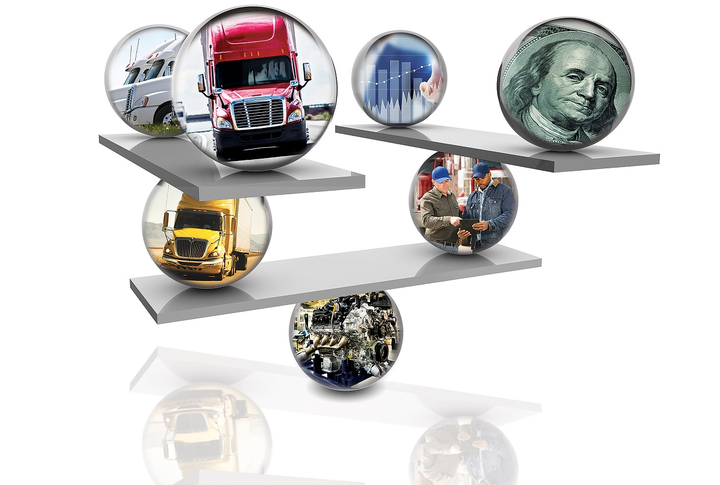 Achieving the optimal total cost of ownership means weighing thebenefits of every specon a truck.  - HDT File Image