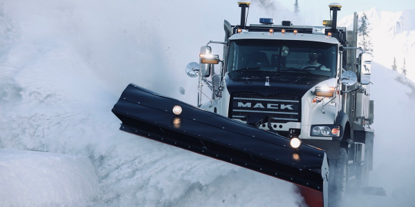 "A ""Differential GPS"" guidance system with 2-centimeter resolution keeps Alaskan snowplow drivers..."