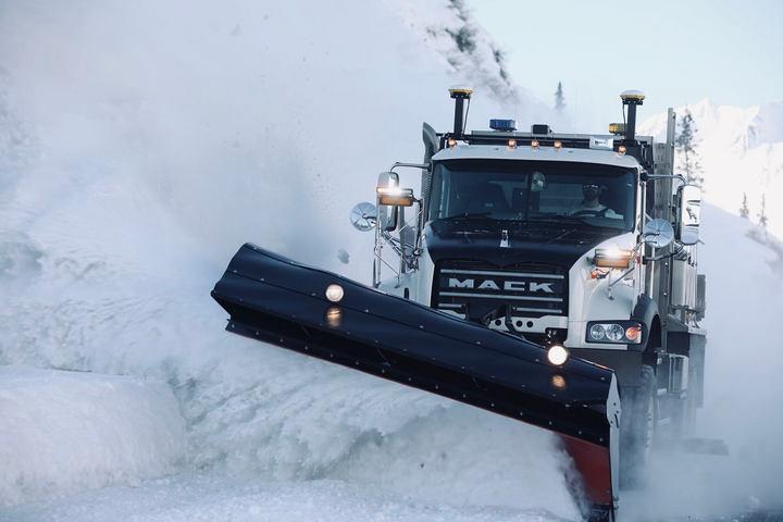 "A ""Differential GPS"" guidance system with 2-centimeter resolution keeps Alaskan snowplow drivers on the road even in zero-visibility white-out conditions.