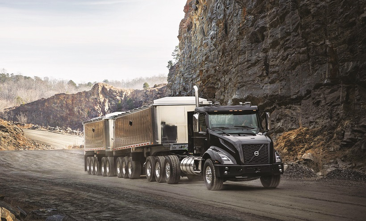 Volvo's new VNX Series was designed specifically for heavy-haul applications, such as logging, heavy equipment transport, and long combination vehicles.