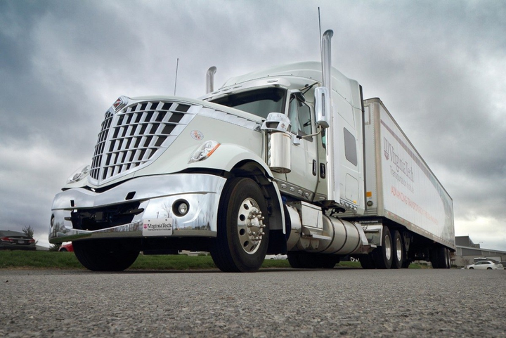 Researchers from Virginia Tech Transportation Institute are teaching high school students in driver's education classes about truck safety by showing them what the road looks like from a driver's point of view.  - Photo courtesy Virginia Tech Transportation Institute