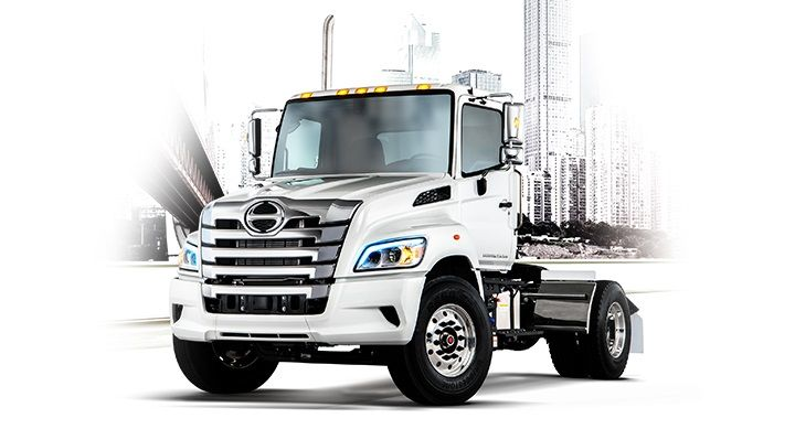 The Class 8 Hino XL8  is powered by Hino's A09 8.9L inline 6-cylinder diesel engine. Offered in both straight truck and tractor configurations, its GVWRs range up to 60,000 pounds and GCWRs up to 66,000 pounds.