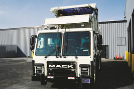 Driving Mack's Low-Ride Refuse Hauler