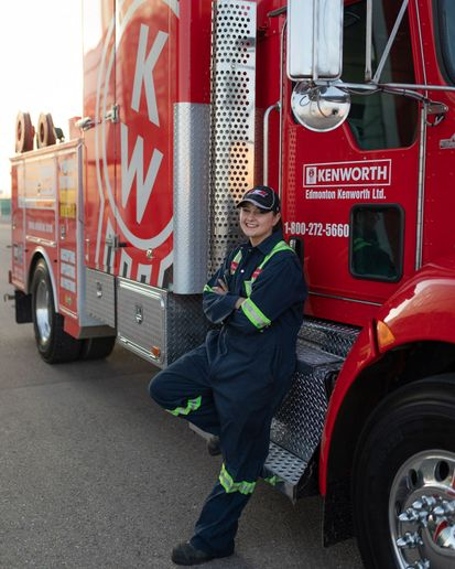 Lesnik becomes the fourth Kenworth Master Technician in the Edmonton Kenworth dealer group. - Photo courtesy Kenworth