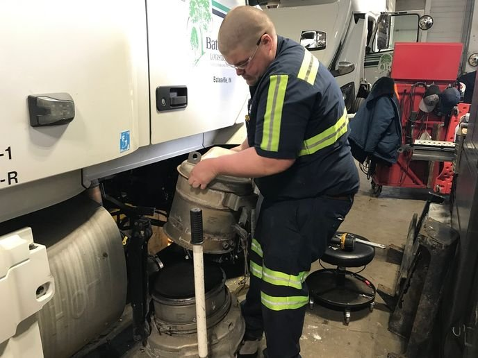 Depending on trade cycles, Chevron says its new diesel engine oil can return exhaust system to being mostly hands-off maintenance items for many fleets. - Photo: Batesville Logistics
