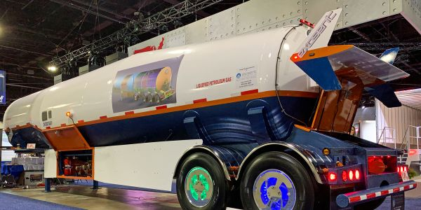 This unusual LPG trailer from Exosent Engineering caught our eye at NACV.