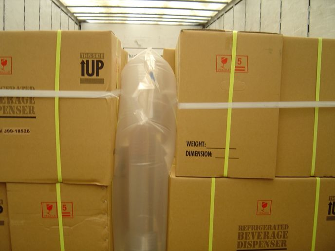 "Inflatable dunnage bags are an ""out-of-the-box"" solution for filling empty spaces in van and reefer trailers. - Photo: Inflatable Packaging Incorporated"